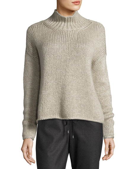 Eileen Fisher Fisher Project Hand-Knit Silk/Cashmere Box Top