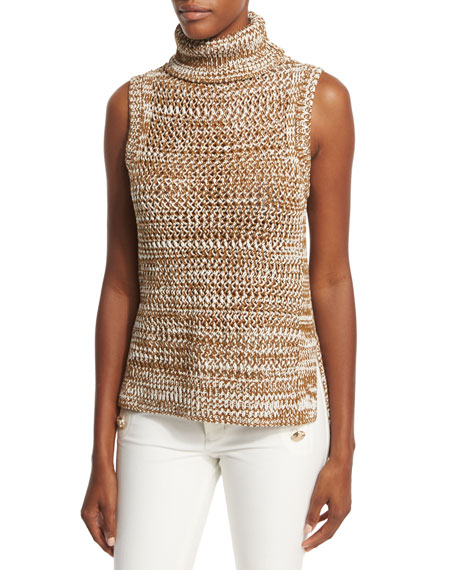 Derek Lam 10 Crosby Sleeveless Crochet Turtleneck Top,