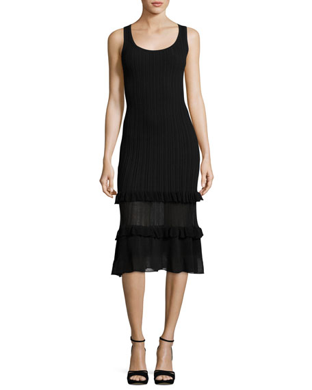 Derek Lam 10 Crosby Sleeveless Ribbed Midi Dress,