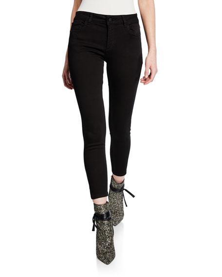 DL1961 Premium Denim Florence Skinny Cropped Jeans, Hail