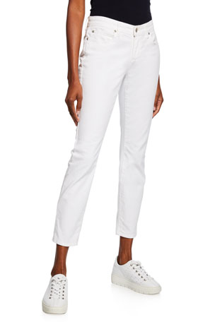 Eileen Fisher Organic Skinny Ankle Jeans, White