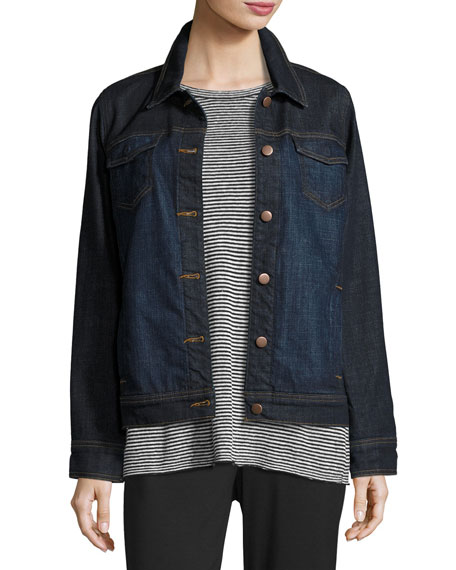 Eileen Fisher Organic Cotton Denim Jacket | Neiman Marcus