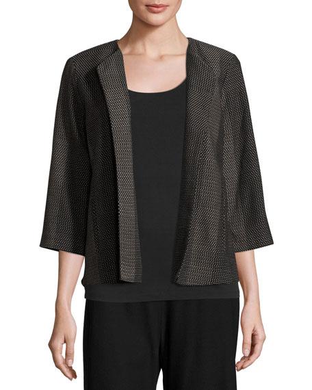 Eileen Fisher Kurume Dash Organic Cotton Jacket, Black,