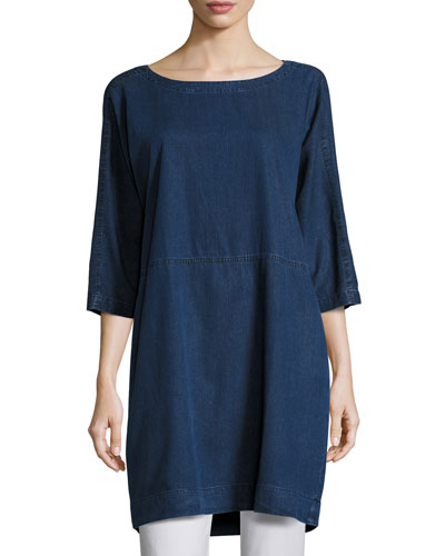 Tencel® Denim Tunic/Dress, Petite