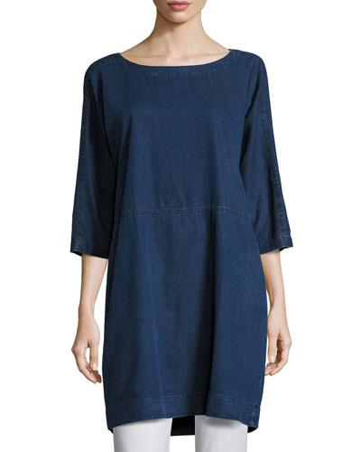 Tencel® Denim Tunic/Dress, Petite