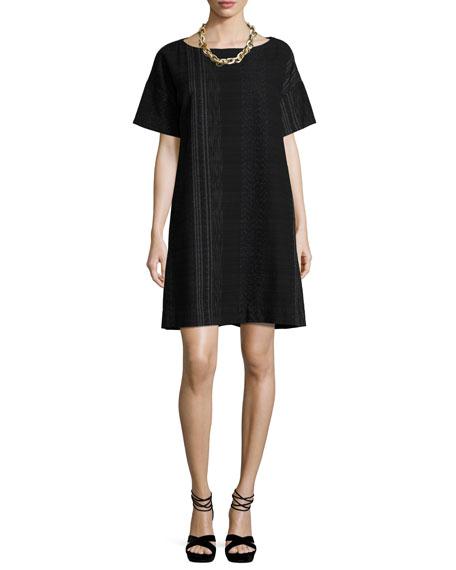 Fisher Project Koshi Crossing Shift Dress, Black