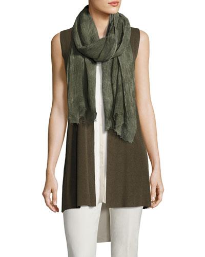 Long Ribbed-Knit Vest, Surplus