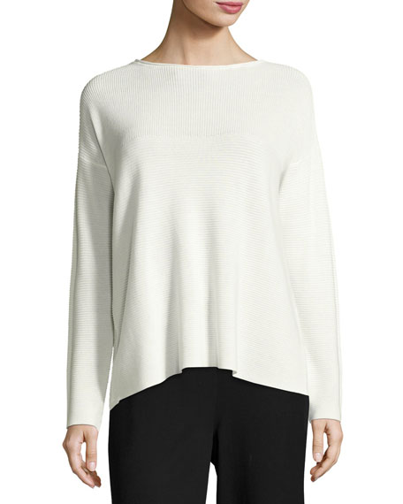 Eileen Fisher Sleek Tencel® Funnel-Neck Top, Petite