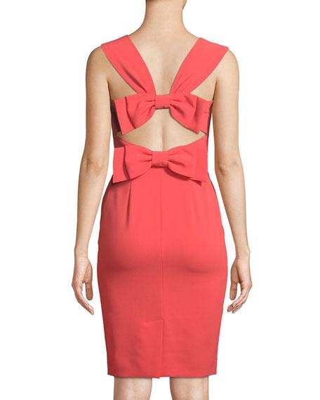 Bow-Back Sleeveless Sheath Dress