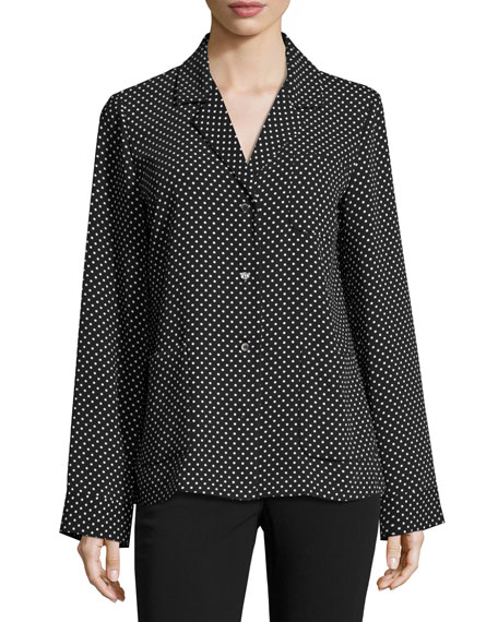 Michael Kors Polka Dot Techno Cady PJ Top