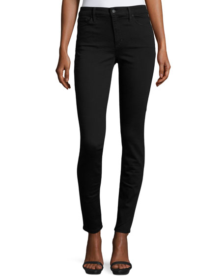 Charlie High-Rise Skinny Jeans, Black