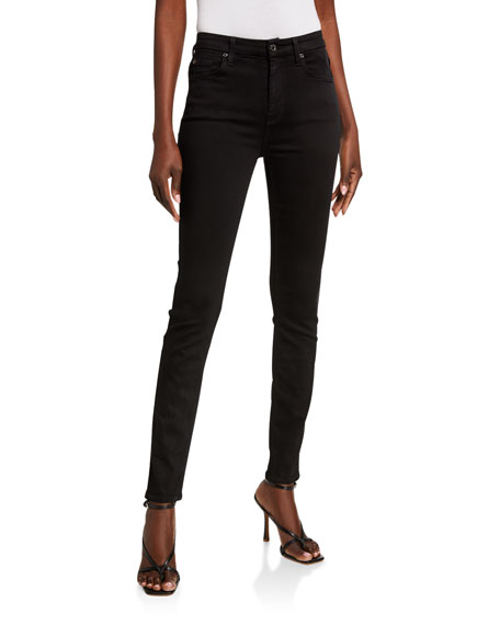 7 For All Mankind High-Waist Skinny Jeans, Slim