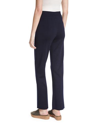 THE ROW Straight pants DESTINY STRAIGHT-LEG PANTS, NAVY