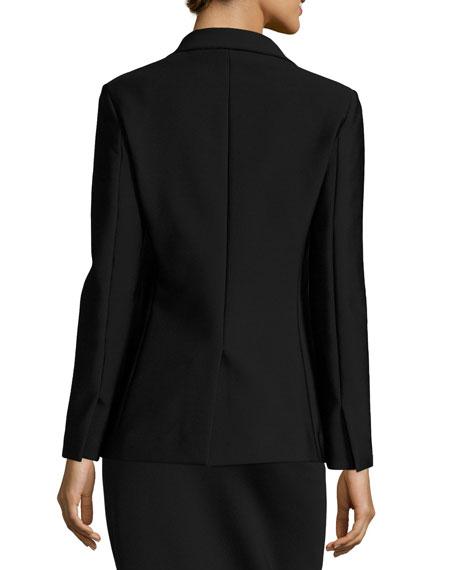 Leony Scuba Two-Button Jacket, Black