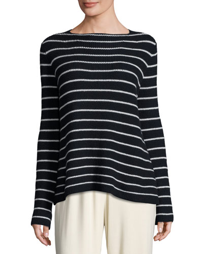 Stretton Breton-Striped Sweater, Navy