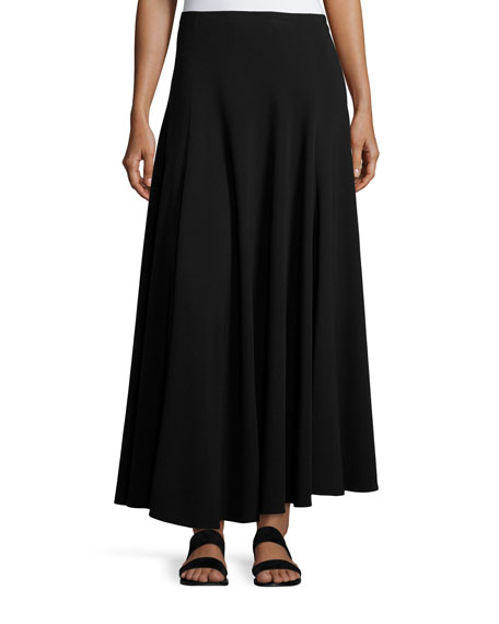 THE ROW Dia A-Line Maxi Skirt, Black