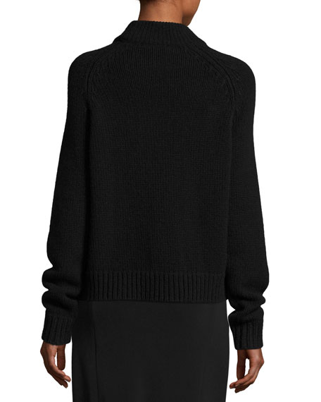 Sephin Mock-Neck Raglan Sweater