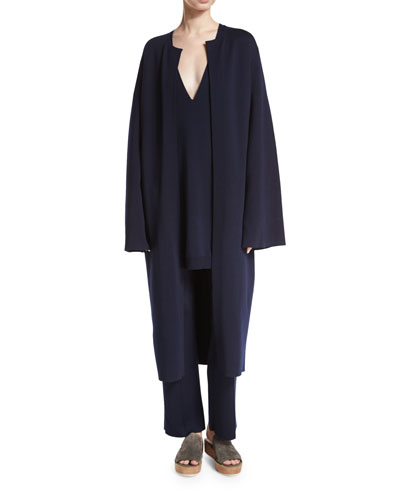 Gant Long Open Coat, Navy
