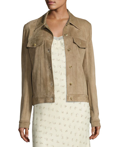 Coltra Lambskin Leather Jacket, Sand