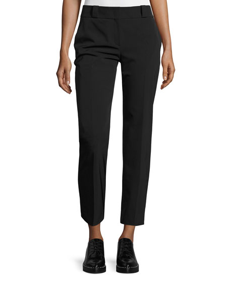 THE ROW Blake Straight-Leg Ankle Pants, Black