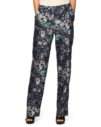 Floral-Print Pajama Trousers