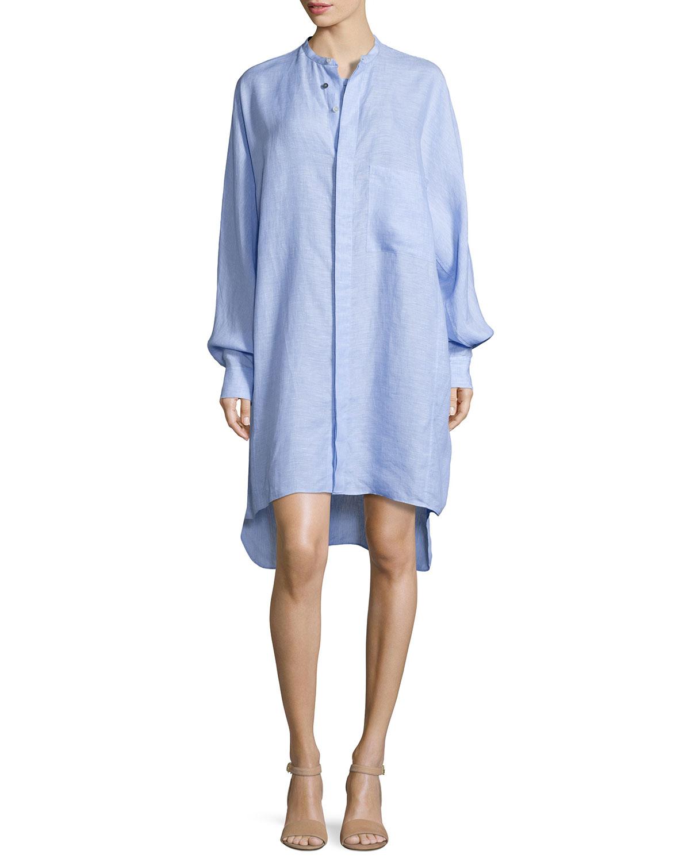 fd113ea2d12 Acne Studios Oversized Linen Shirtdress