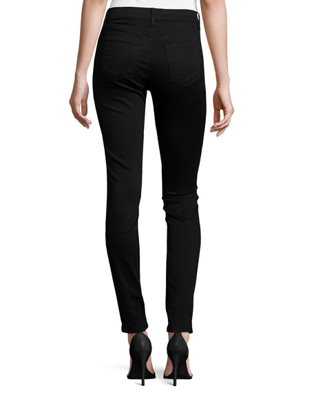 Drizzle Sequined Mid-Rise Super Skinny Jeans