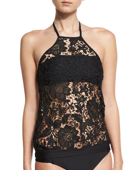 Luxe by Lisa Vogel State of Lace High-Neck