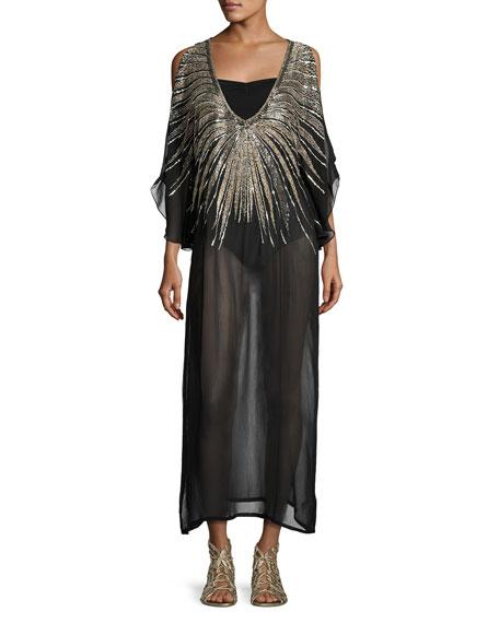 Luxe by Lisa Vogel Show Stopper Embellished Caftan