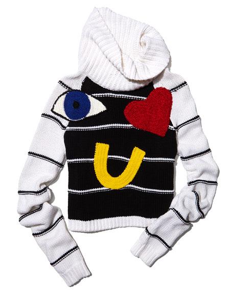 Zita Eye Heart You Turtleneck Sweater
