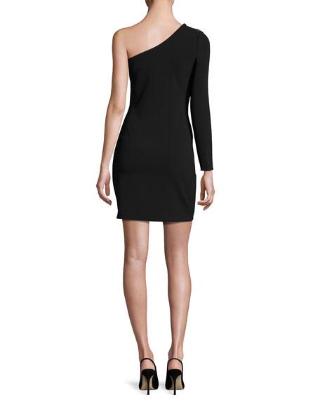Davita Lace-Up Mini Dress, Black