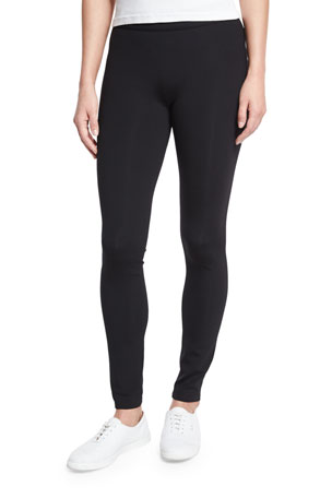 THE ROW Scuba Jersey Leggings, Black