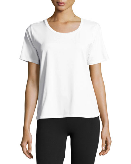 Varley Fairmont Mesh-Back Performance Tee, White