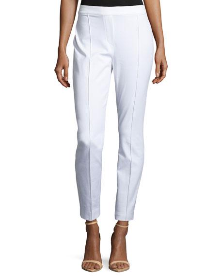 Elie Tahari Gia Straight-Leg Ankle Pants, White