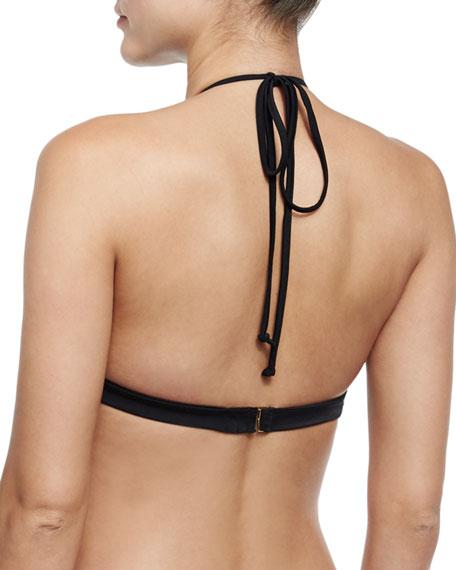 Netting High-Neck Halter Swim Top
