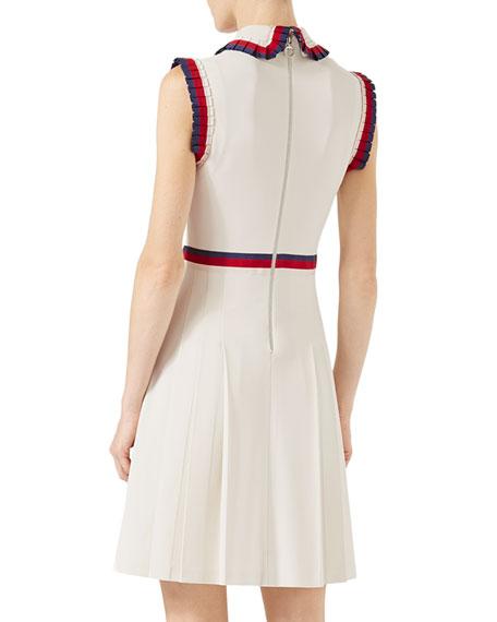 Viscose Jersey Sleeveless Dress, Ivory