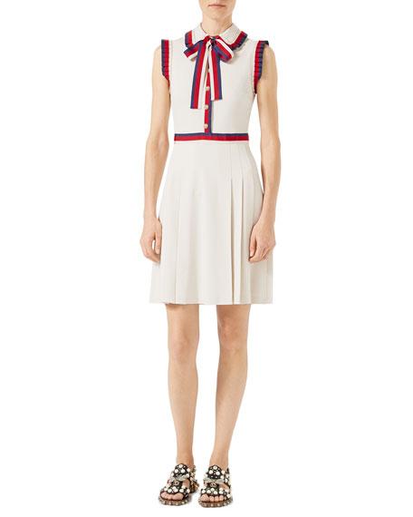 Gucci Viscose Jersey Sleeveless Dress, Ivory