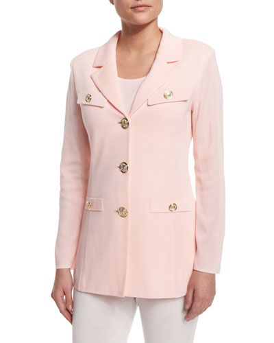 Dressed Up Button-Front Jacket, Rose Water Best Reviews