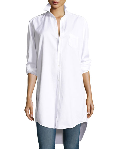 Frank & Eileen Mary Denim Tunic-Shirtdress, White