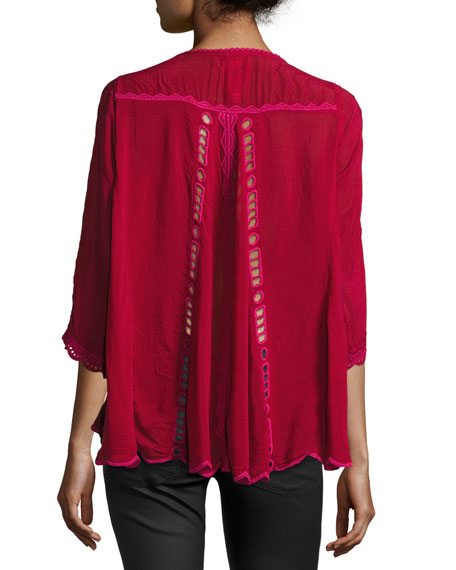 Johnny Was Marina Georgette Blouse