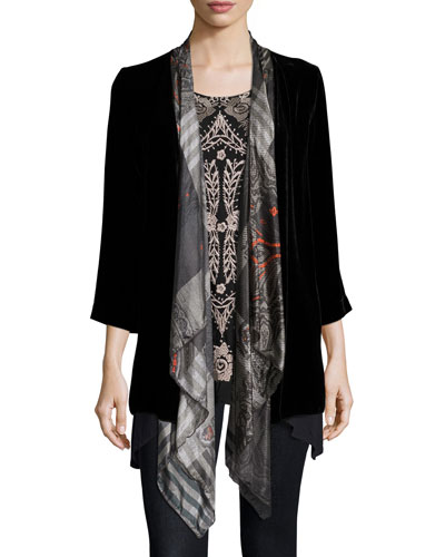 Lillian Scarf Draped Cardigan