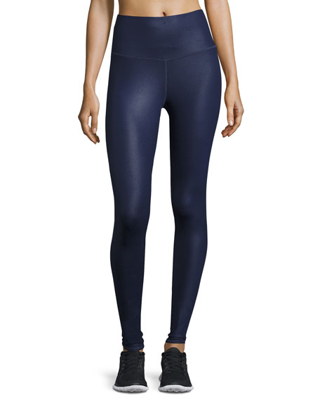 Alo Yoga Airbrush High-Waist Sport Leggings, Rich Navy
