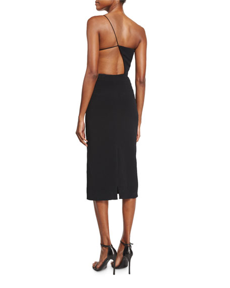 Asymmetric Open-Side Cami Dress