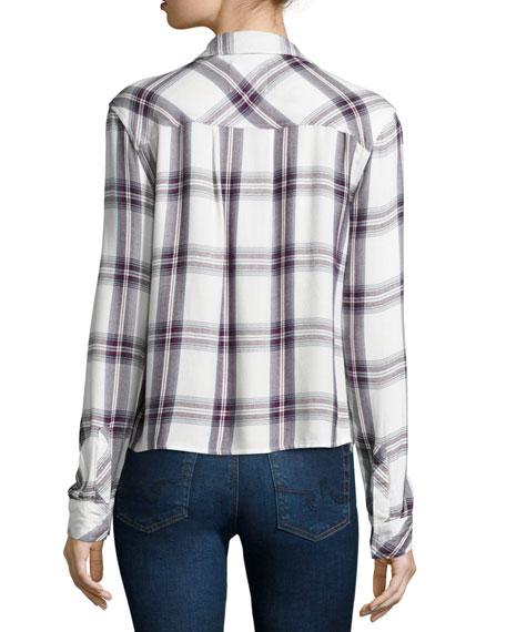 Dylan Plaid Long-Sleeve Shirt, Multi