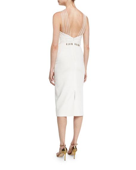 Multi-Strap Halter Midi Dress