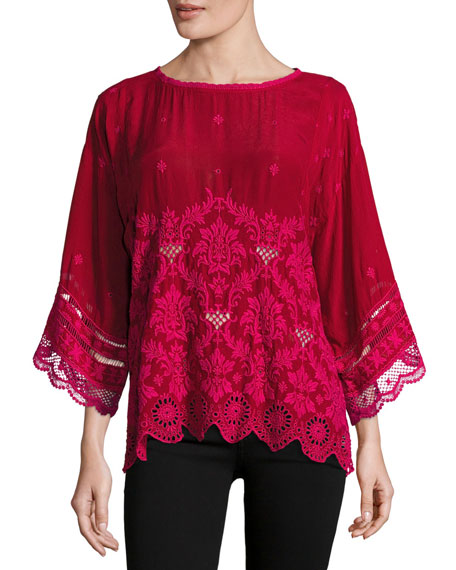 Tasho Georgette Dolman Top, Plus Size