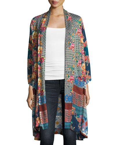 Muda Mix-Print Georgette Kimono Best Price