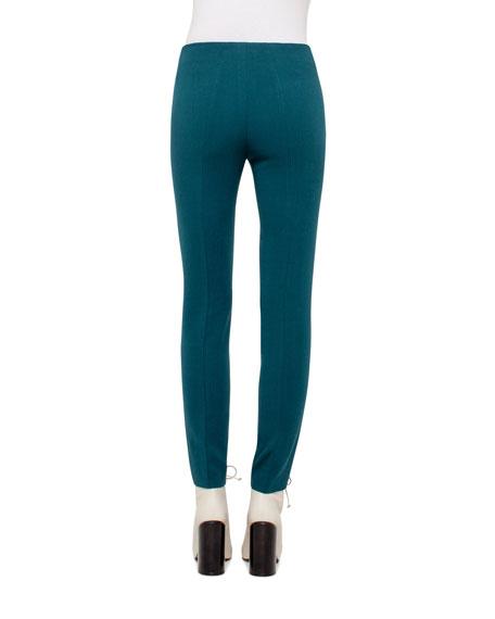 Melissa Wool-Blend Skinny Pants, Seabiscuit Teal
