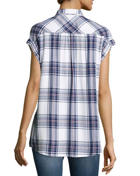 Britt Plaid Short-Sleeve Shirt, Multi