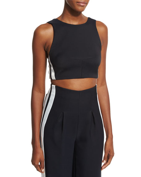 Kendall + Kylie Track-Stripe Crop Top